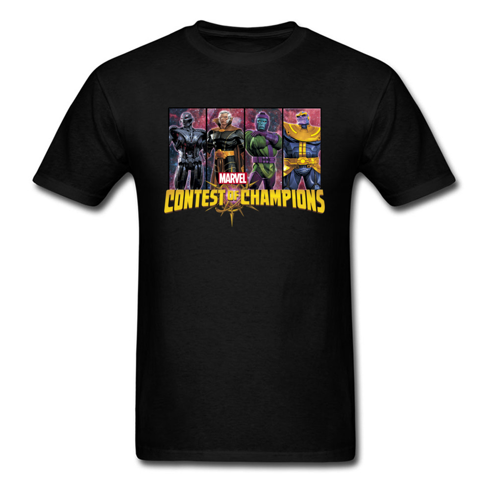 Marvel Tops & Tees Men T Shirt Villains Contest of Champions Clothing Superman Tshirt Black T-shirt Cotton Fabric 3D Characters