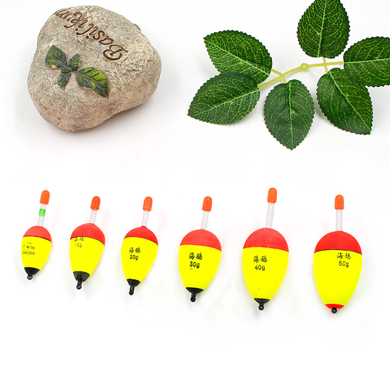 1Pcs Fishing Float 1.8g-4.2g High Quality EVA Luminous Float Fish Bait for Sea Fishing Carp Fishing Tackle Accessories Plastic 6
