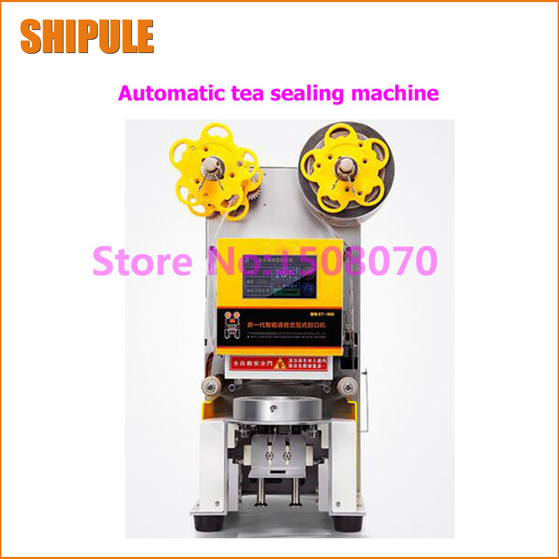SHIPULE Fully automatic new type cup sealing machine, milk drink juice cup sealer paper cup heat sealing machine