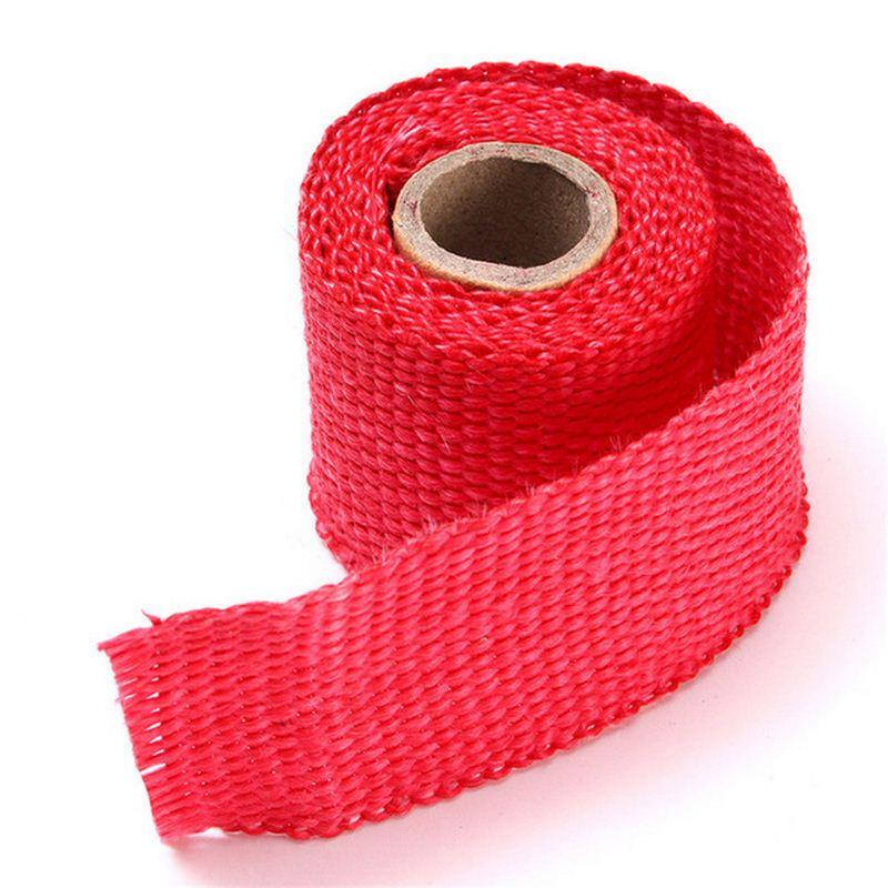 5cm 1 5m Glass Fiber Tape Auto Exhaust Pipe Wrap Insulation 900 1200 Degrees Temperature Cotton Insulation Heat Wrapped Tape