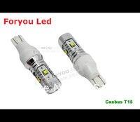 Miễn phí vận chuyển 2 Cái Không Lỗi CREE XBD Chips 25 Wát Canbus T15 W16W LED Ánh Sáng Sao Lưu xe Đi Ngược ánh sáng bóng đèn