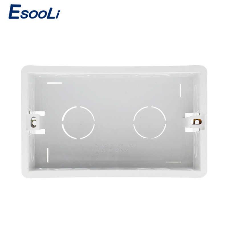 Esooli ウォールマウントボックス内部カセット白バックボックス 137*83*56 ミリメートル 146 ミリメートル * 86 ミリメートル標準タッチスイッチと USB ソケット