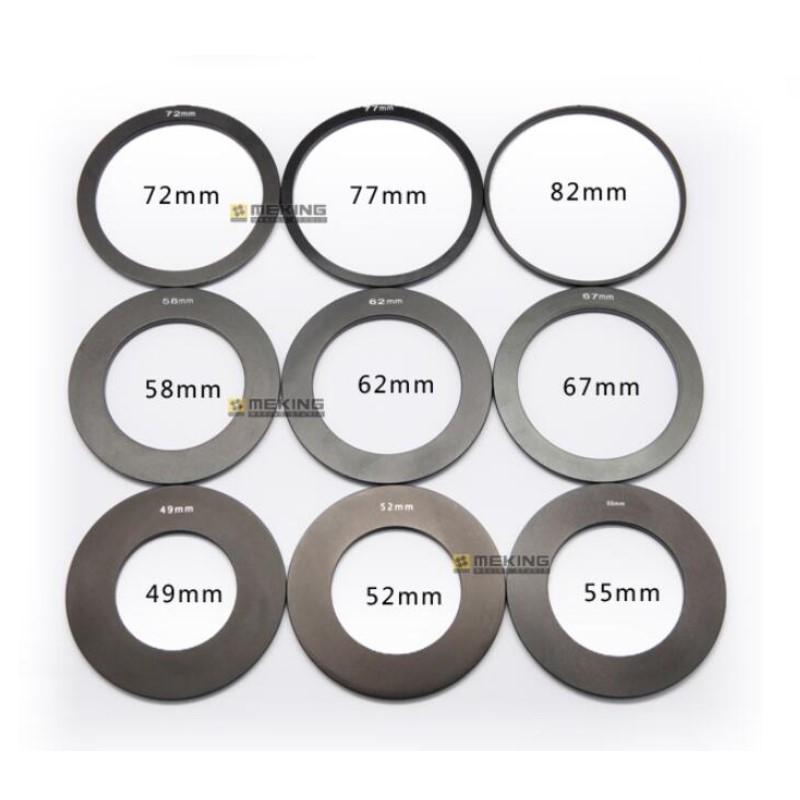 Meking Adapter Ring for DSLR Square Filter Holder 49mm 52mm 55mm 62mm 67mm 72mm 77mm 82mm for Option Compatible Cokin P Series