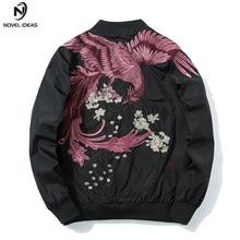 4bdc118cb60c Neue ideen Frühling MA1 Military Jacken Männer mit Phoenix auf Zurück  Blütenblätter Chinesischen Stil Hip Hop