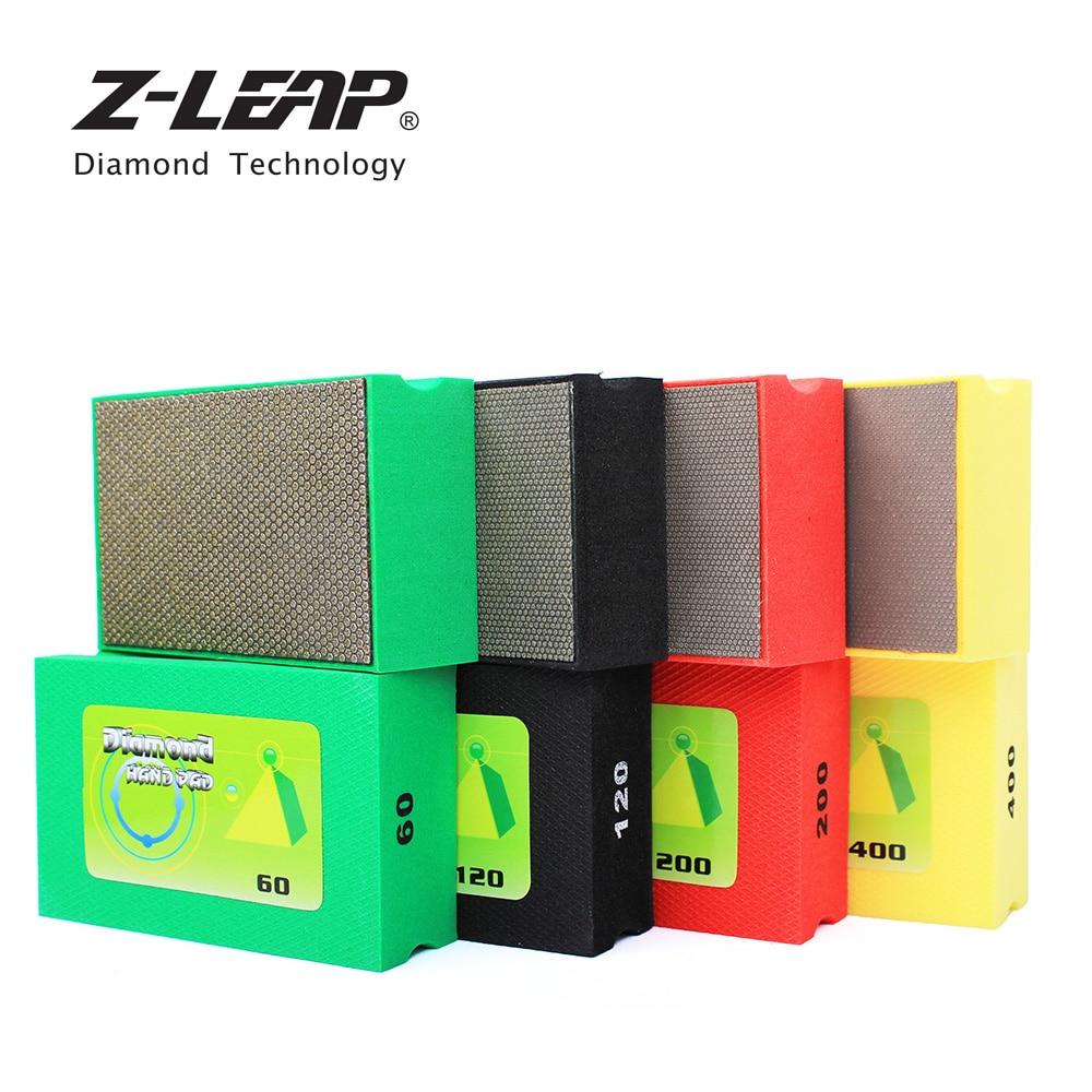Z-LEAP Diamond Hand Polishing Pad Electroplated Diamond Hand Pad Foam Backed Glass Polishing Grinding Ceramic Tile Abrasive Tool