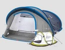 Открытый кемпинг Непромокаемые вентиляции Хранения 3-4 человек Полностью автоматический Двойной слой Пляж палатки/tb111006