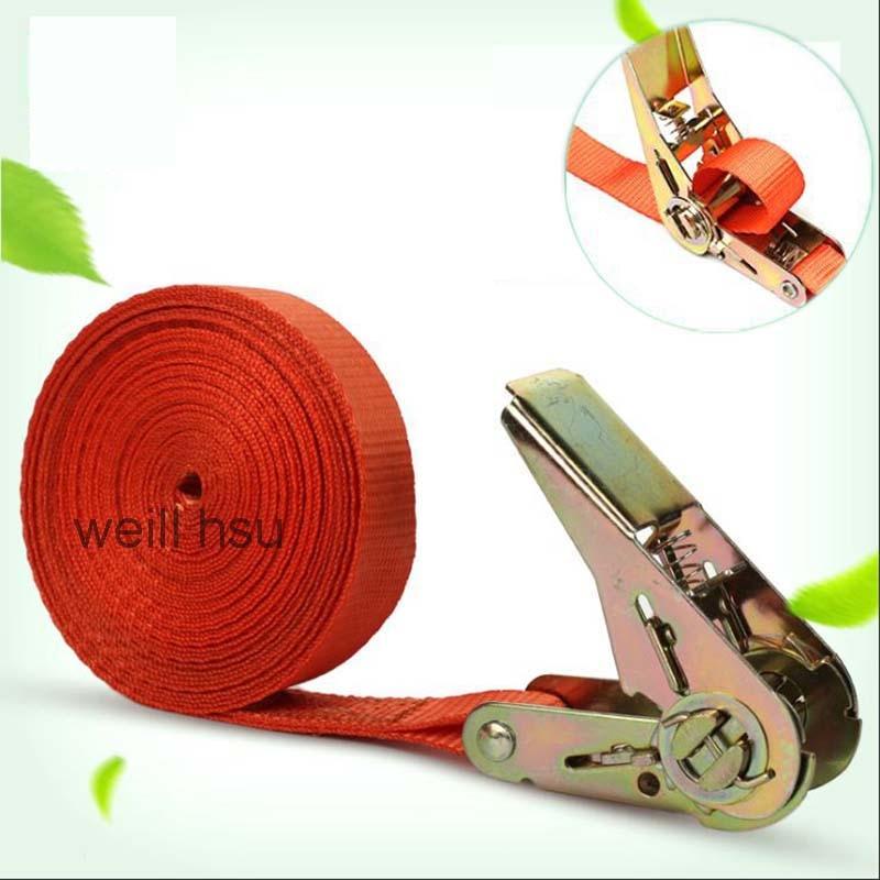 6m X 2.5cm 800kg Weill Hsu Car Luggage Cargo Polyster Tape Strap Bind Belt Auto Bundling Belt Ratchet Tie Down цена