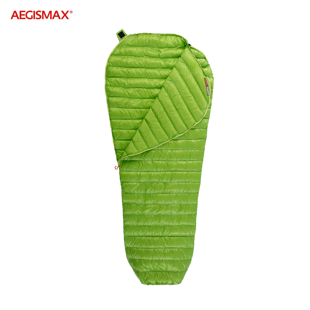 AEGISMAX Outdoor Urltra Light Goose Down Sleeping Bag Three Season Down Sleeping Bag Mummy Down Sleeping