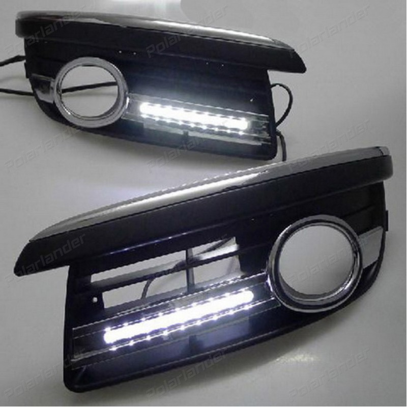 2 pcs/lot LED DRL Car styling daytime running light car specific for V/W S/agitar 2006 2011 auto accessories