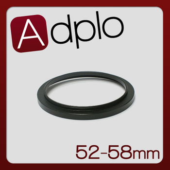 Black 52-58mm 52MM to 58MM Step Up Camera Lens Filter Ring Stepping Adapter Photographic accessories