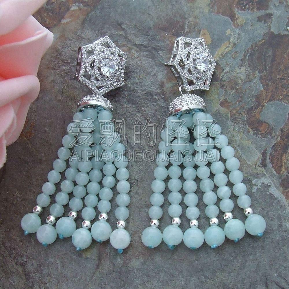 E050513 Natural Amazonite Earrings