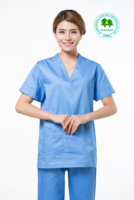 97727f4d6d1 Free Shipping OEM scrub sets hospital uniform hospital clothes physician  services short sleeve for women hot sale for summer