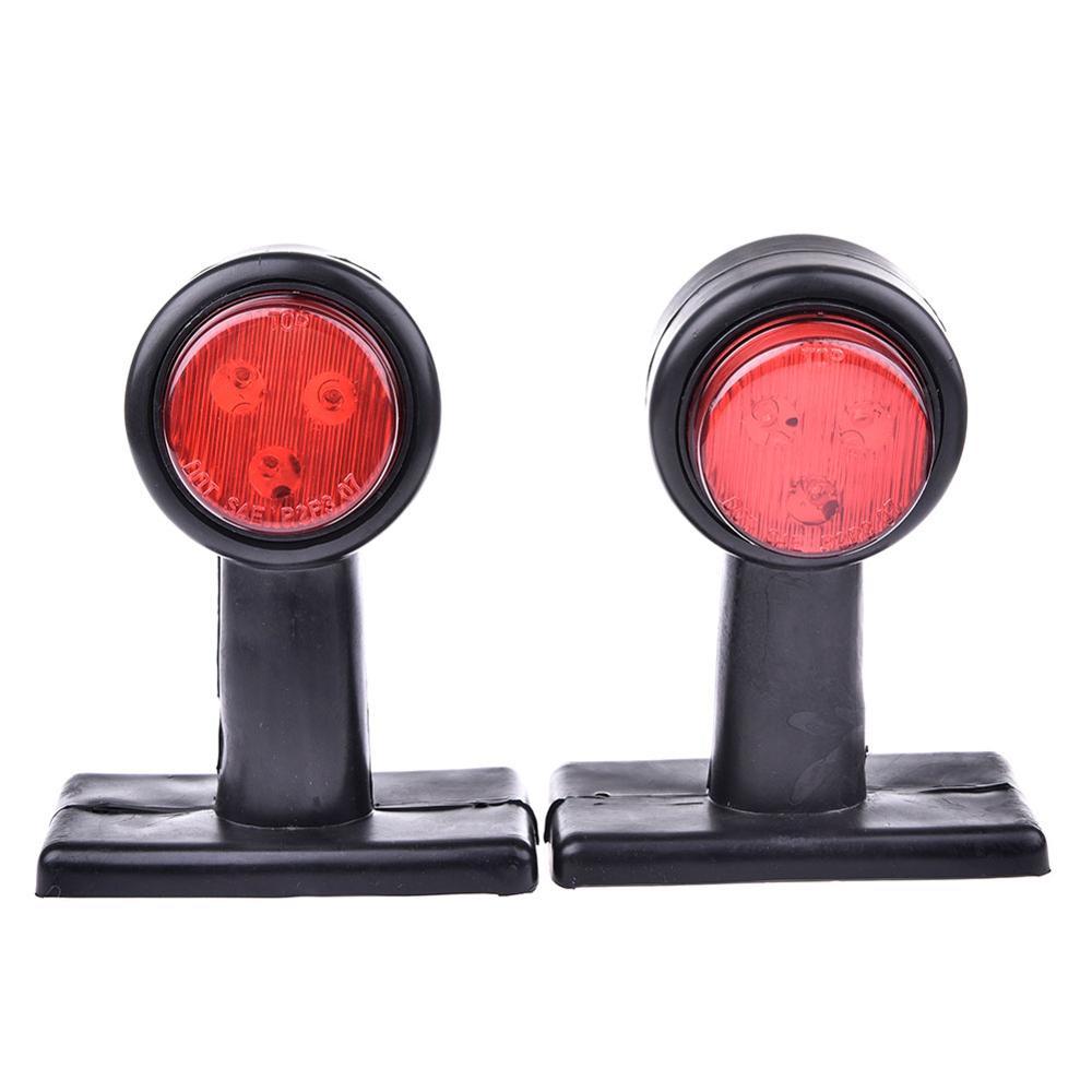 מקרן קיר 2pcs 10-30V טריילר משאית האדום לבן 12-LED עמילות Side Marker אור מנורה (3)