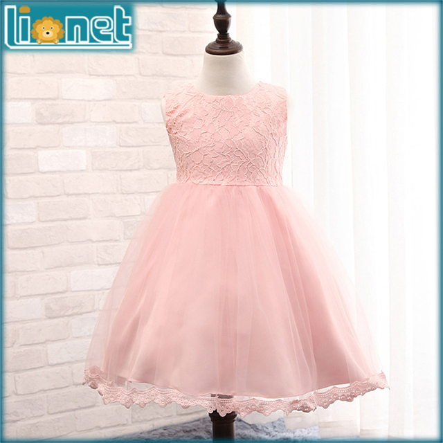 summer dresses luxury wedding party girls clothes sleeveless bowknot lace kids baby dress for 0-2 yrs girl free shipping