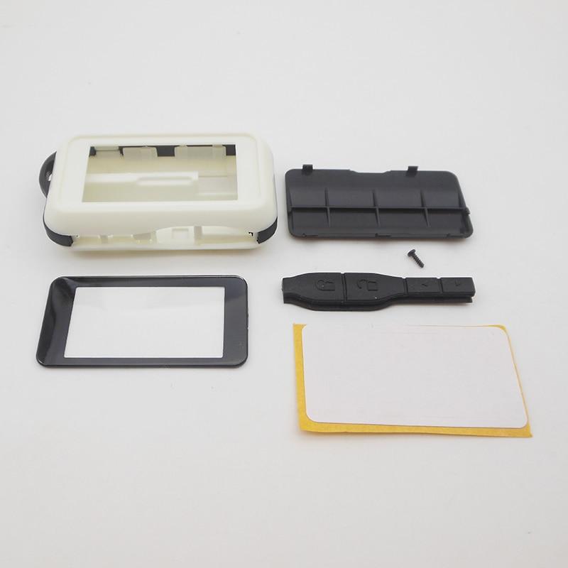 Caso chaveiro para starline rússia versão E90 E95 E90 E91 E92 E93 E96 E60 E61 E90 lcd controle remoto em dois sentidos do carro alarme auto starline
