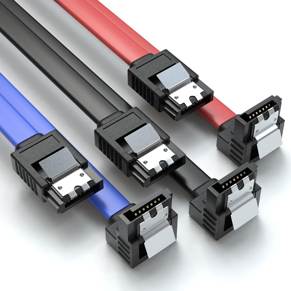 3 Packs 0.5m High Speed 6 Gbp/s SDD HDD 90 Degrees Connector SATA 3.0 Cable Wires Adapter