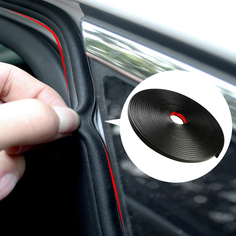 3Meters Car-styling Car Door Edge Seal Strips Rubber Weatherstrip Sealing Sticker Auto Interior Trunk Trim Universal Accessories