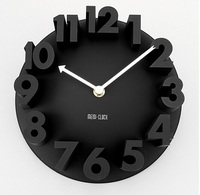 Hot Sale 3D Dimensional Relief Fashion Digital Clock Wall Clocks For Home Decoration Watch Bell