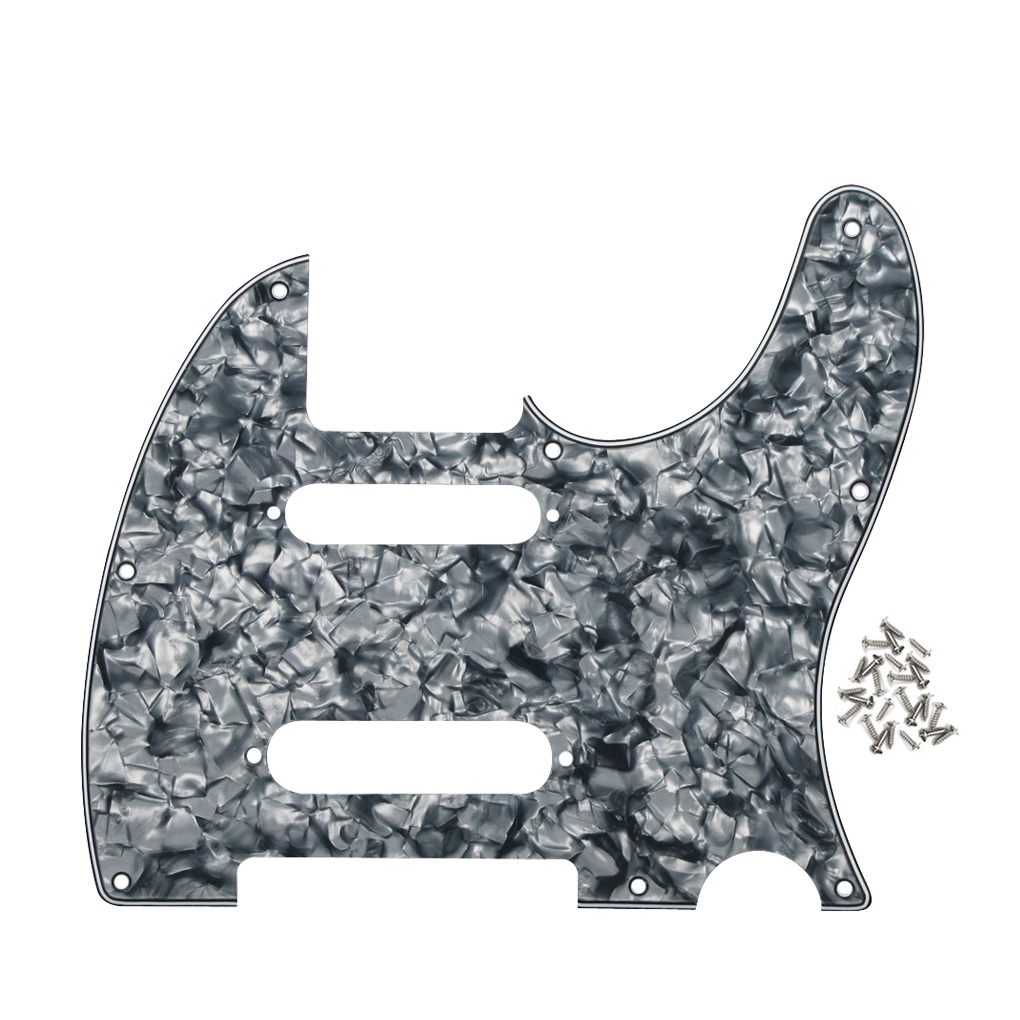 8 holes nashville tele style gutiar pickguard 4ply with screws guitar parts accessories grey. Black Bedroom Furniture Sets. Home Design Ideas