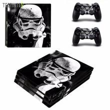 Star Wars de Vinilo Etiqueta Piel para Sony PS4 Pro Consola y 2 Controladores de Cubrir Calcomanía Accesorios Del Juego
