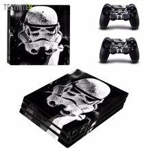 Star Wars vinyle autocollant de peau pour Sony PS4 Pro Console et 2 contrôleurs décalcomanie couverture accessoires de jeu