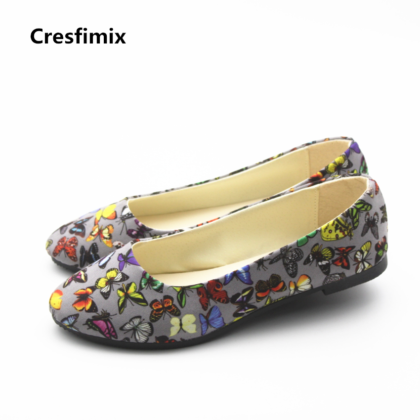 Cresfimix women casual grey flat shoes zapatos de mujer female leisure street stylish flats lady plus size comfortable shoes cresfimix zapatos de mujer women casual plus size retro flat shoes lady leisure spring