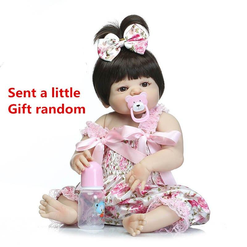NPK 57 cm bébé Reborn poupée Simulation doux poupée bébé Silicone Reborn bébé poupées tout-petits Reborn bébé poupée jouets pour filles # ED