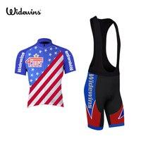 USA Hommes D'été Cyclisme Jersey Ropa Ciclismo Vélo Vêtements Vélo Pro Sport Wear Gel Respirant Pad 5007