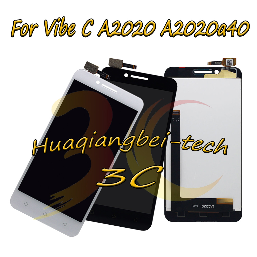 Black White Lcd Tp For Lenovo Vibe C A2020 A2020a40 Display 50 New Full Touch Screen