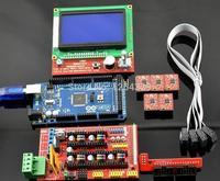 1pcs2560R3 1pcs RAMPS 1 4 Controller 5pcs A4988 Stepper Driver Module 1pcs 12864 Controller For 3D