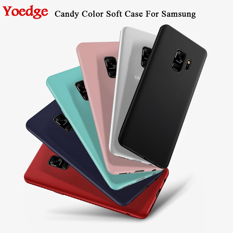 Candy Color Silicon Matte Cover For Samsung Galaxy S8 S9 Plus S6 S7 Edge Note 8 9 J3 J5 J7 A3 A5 A6 A7 A8 A9 Plus 2017 2018 Case