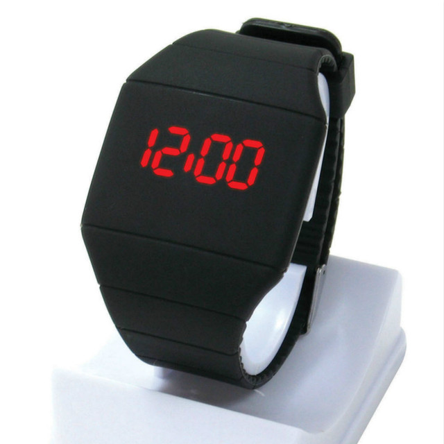 Christmas Gifts Men Women Students Square Face Sport Rubber Digital