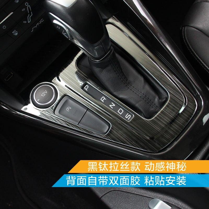 Wysokiej jakości wykończenie wnętrza ze stali nierdzewnej cekiny, wykończenie deski rozdzielczej dla Ford Focus 2015 2016 2017 stylowe pokrowce na samochody