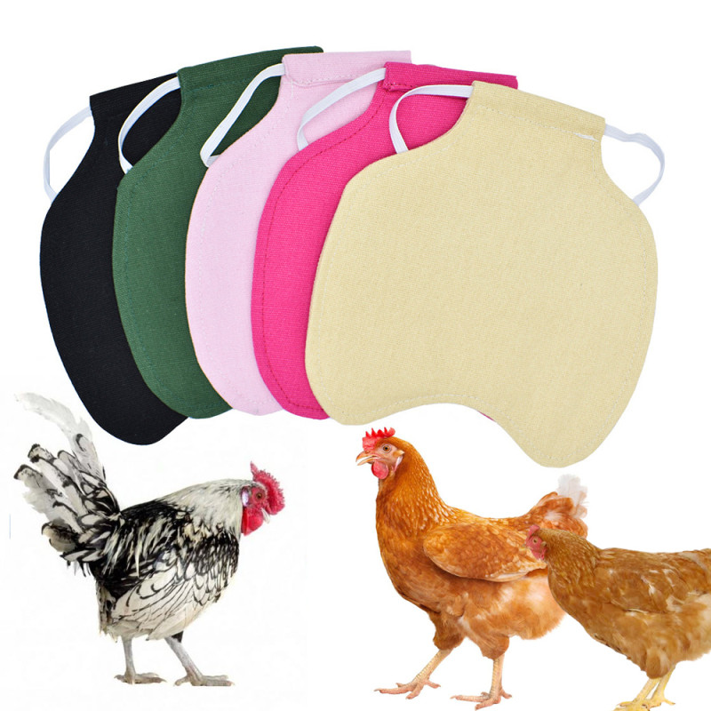 Adjustable Pet Clothes Hen Apron Poultry Hen Saddle Apron Feather Protection Holder Chicken Duck Wings Back Protector Hen Dress