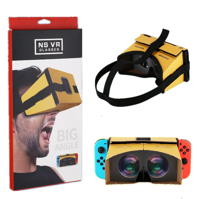 DIY Virtual Reality Glasses 3D Glasses VR Box Movies Game for Nintend SWITCH Labo VR glasses ForZelda for Odyssey Game Accessory-in Replacement ...