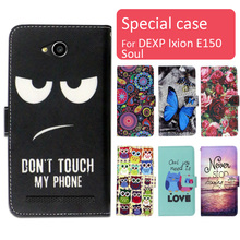 Fashion cartoon printed flip wallet leather case for DEXP Ixion E150 Soul with Card Slot phone