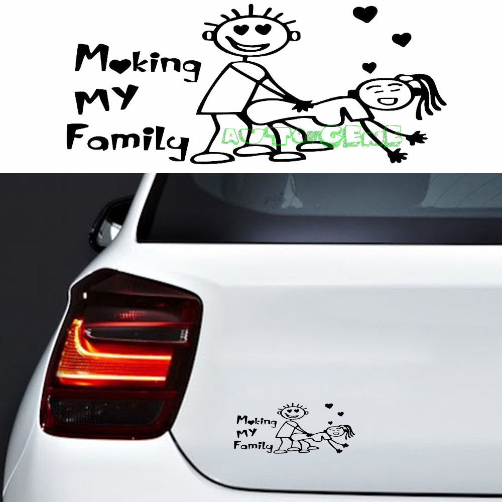 Design my car sticker - 1pc Jdm Rude But Funny Sticker Making My Family Hollow Vinyl Car Sticker Decal China