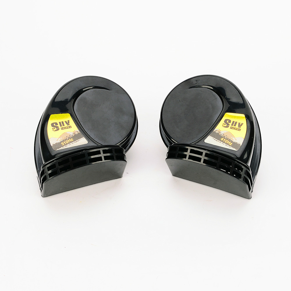 Iztoss Suv 2pcs Pair Black 1 Treble Bass Waterproof Super Loud Golf Cart Wiring Harness For Horn Free Download Snail Air Siren Speeker 12v Car 510hz 115db Alarm Sound In Multi Tone Claxon Horns