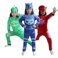 Catboy Cosplay Costumes PJ Cartoon Masks Boys Cosplay Jumpsuits Halloween Christmas Streetwear Pajama Hero Costumes