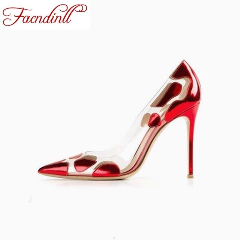 ФОТО sexy women shoes gladiator women pumps platform high heels  microfiber+PVC clear crystal classic design fashion wedding shoes
