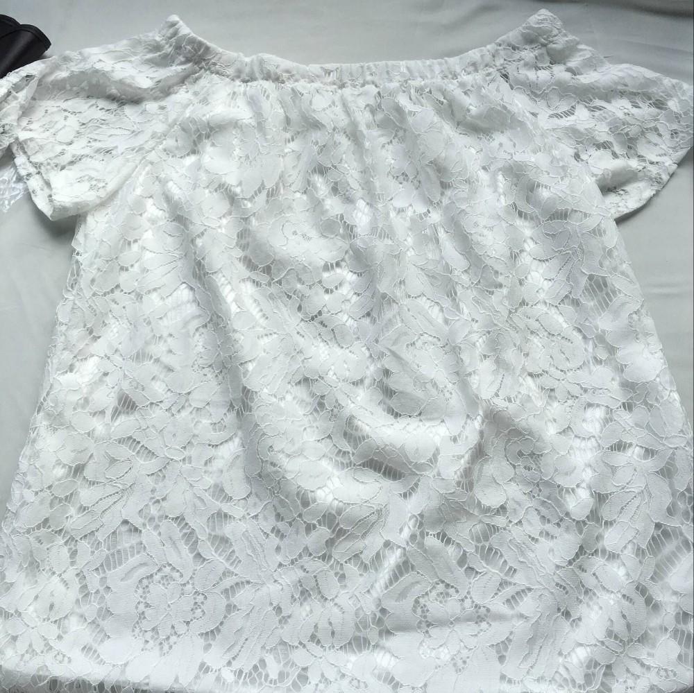 HTB1 1jsKFXXXXc8aXXXq6xXFXXX2 - Women Blouses Lace Crochet Shirts Fashion Summer Sexy Casual