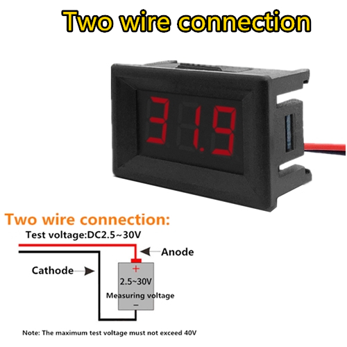 Two wire connection