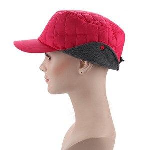 Image 2 - Fibonacci 2018 novo chapéu de inverno feminino à prova de vento blusão tecido proteção de ouvido quente mais veludo grosso boné de beisebol