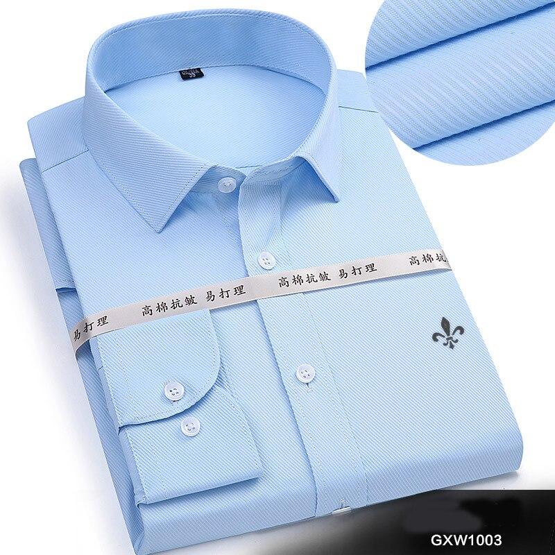 Dudalina 2020 Men Casual Long Sleeved Solid shirt Slim Fit Male Social Business Dress Shirt Brand Men Clothing Soft Comfortable 5