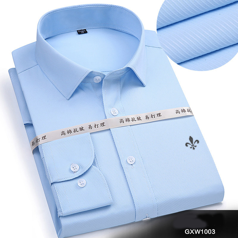 Image 5 - Dudalina 2019 Men Casual Long Sleeved Solid shirt Slim Fit Male Social Business Dress Shirt Brand Men Clothing Soft Comfortable-in Casual Shirts from Men's Clothing