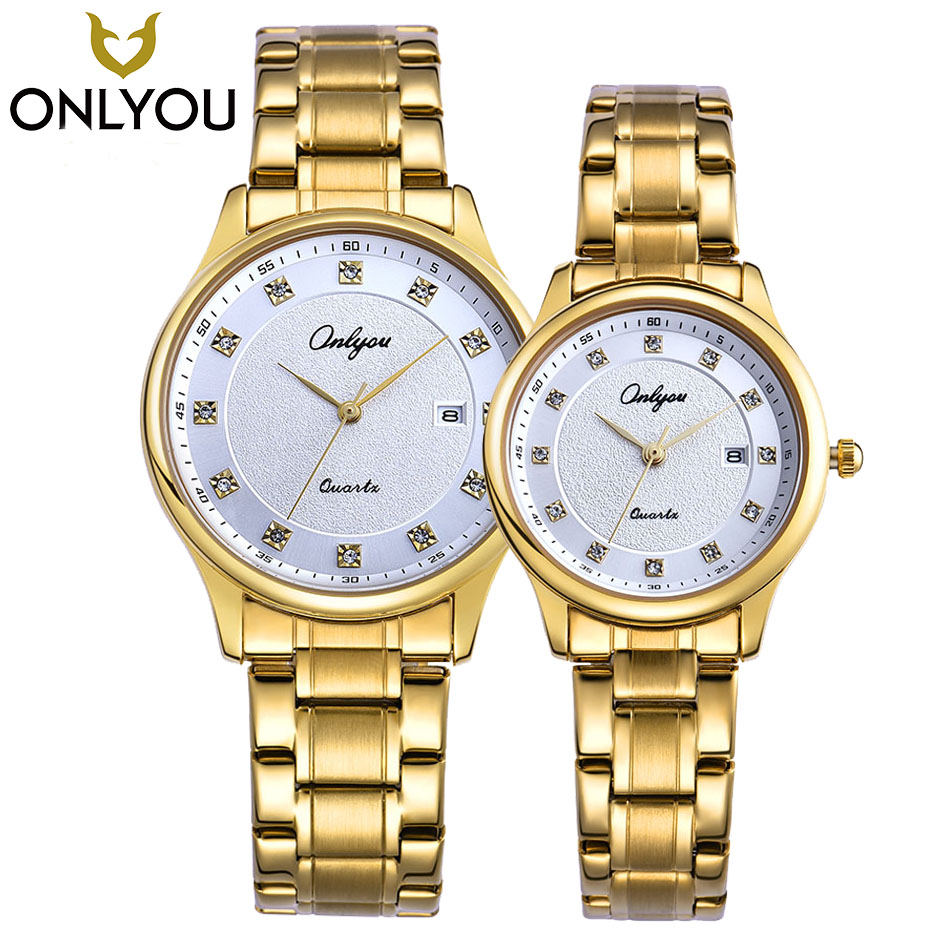 ONLYOU Lover Watch Women Business Quartz Watches Fashion Simple Diamond Bracelet Dress Ladies Waterproof  Wristwatches in Gift onlyou brand luxury fashion watches women men quartz watch high quality stainless steel wristwatches ladies dress watch 8892
