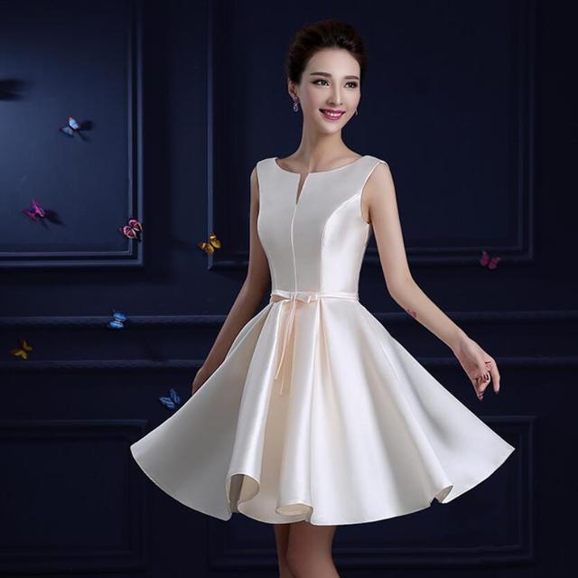 3 Type Champagne Elegant Short Evening Dress