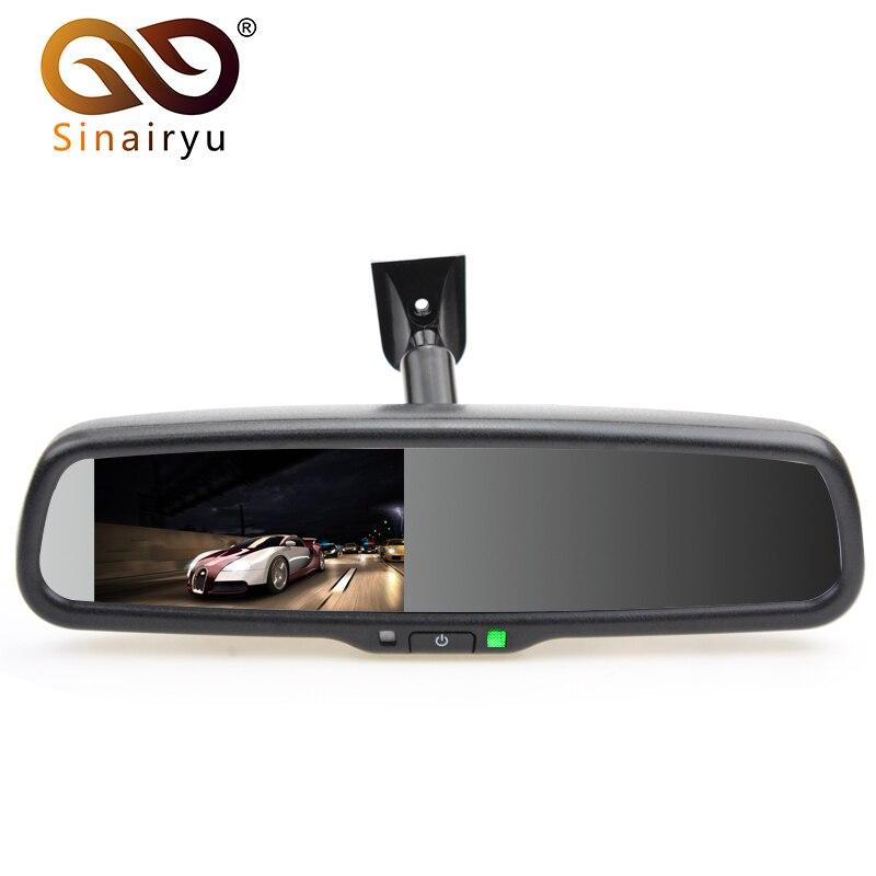 Sinairyu 4.3 TFT LCD Car Windscreen Interior Mirrors Rearview Mirror Monitor with Original Bracket For Kia Hyundai Ford VW