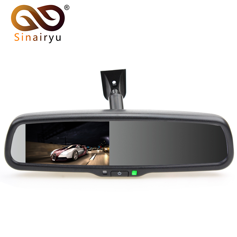 Sinairyu 4.3 TFT LCD Car Windscreen Interior Mirrors Rearview Mirror Monitor with Original Bracket For Kia Hyundai Ford VW