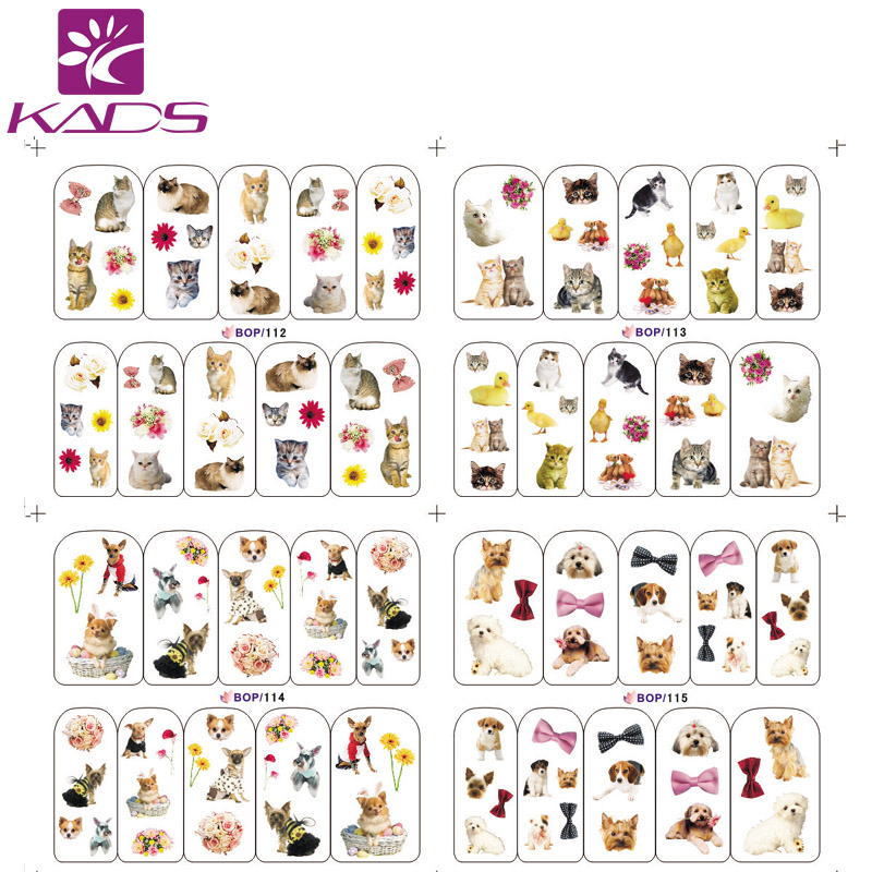 (20/50/100pcs)Cat Dog Mouse Etc Water Decals Nail Art 3d CartoonDesign Nail Tips Accessory Decoration for Nail Tips